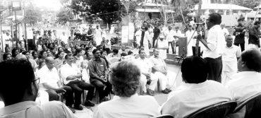 തിരുവനന്തപുരത്ത് മദ്യവിരുദ്ധ സമരത്തിനുനേരെ  പോലീസിന്റെ തേർവാഴ്ച