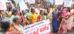 ചെമ്മീൻ പീലിംഗ് തൊഴിലാളികളുടെ കളക്ട്രേറ്റ് മാർച്ച്