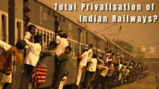 ഇന്ത്യൻ റെയിൽവെ കുത്തകകൾക്ക്  കൈമാറാനുള്ള ഗൂഢാലോചനയെ ചെറുക്കുക